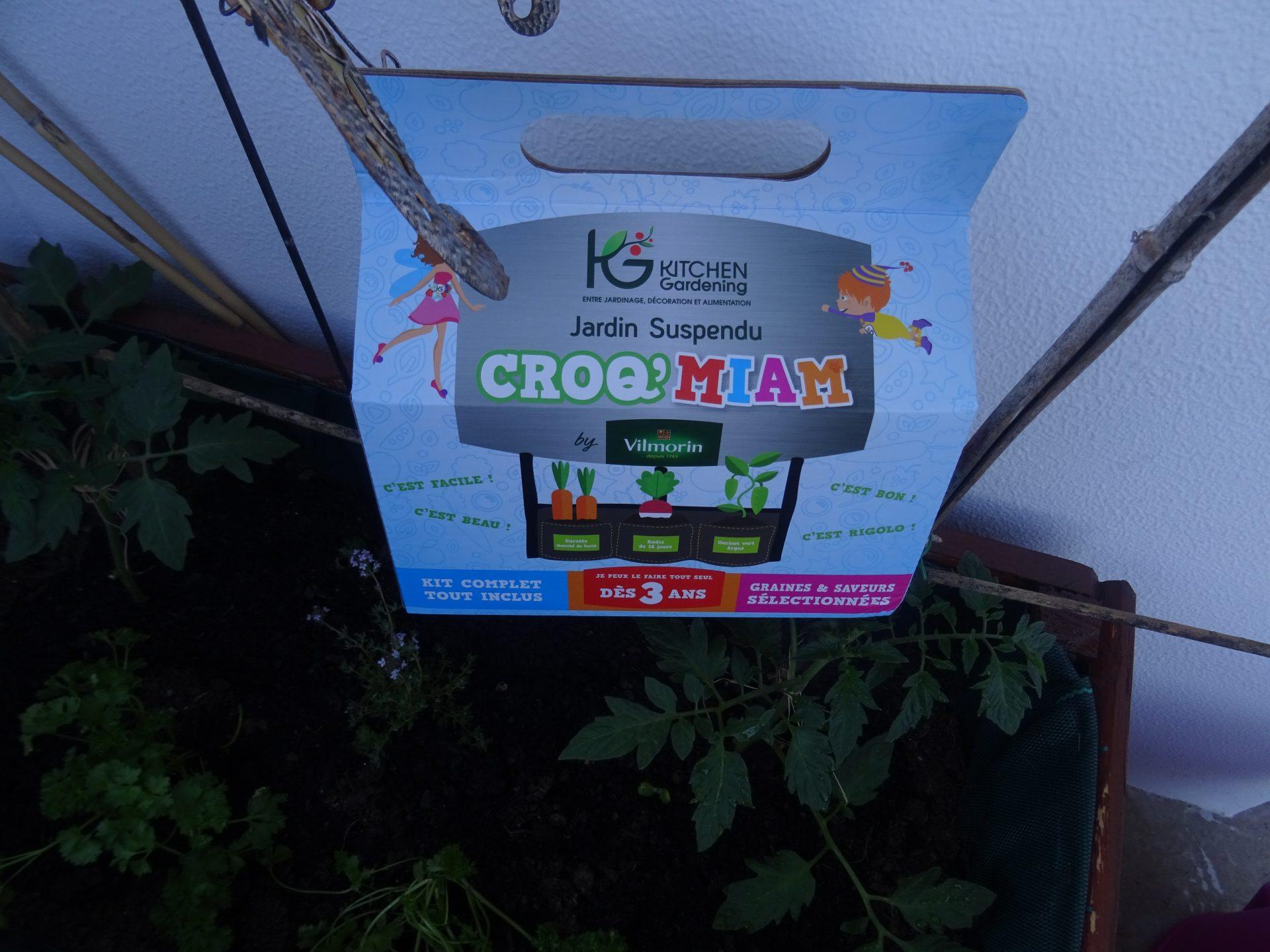 Jardin suspendu Croq Miam Vilmorin
