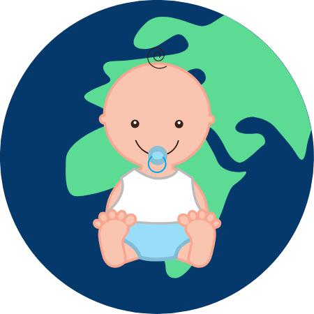 La mode bébé en coton bio personnalisable.