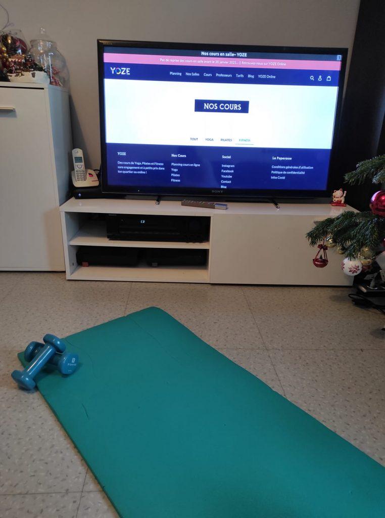 Yoze et le sport à la maison